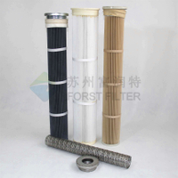 Metal Top/Bottom Pleated Bag Filters